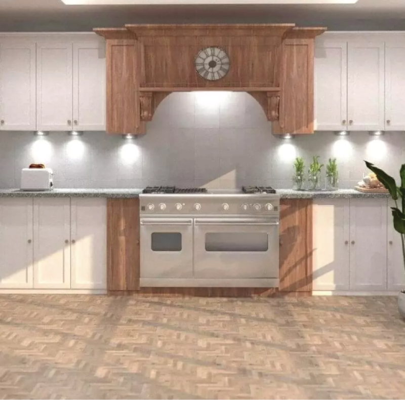 beautiful kitchen with cupboard lights