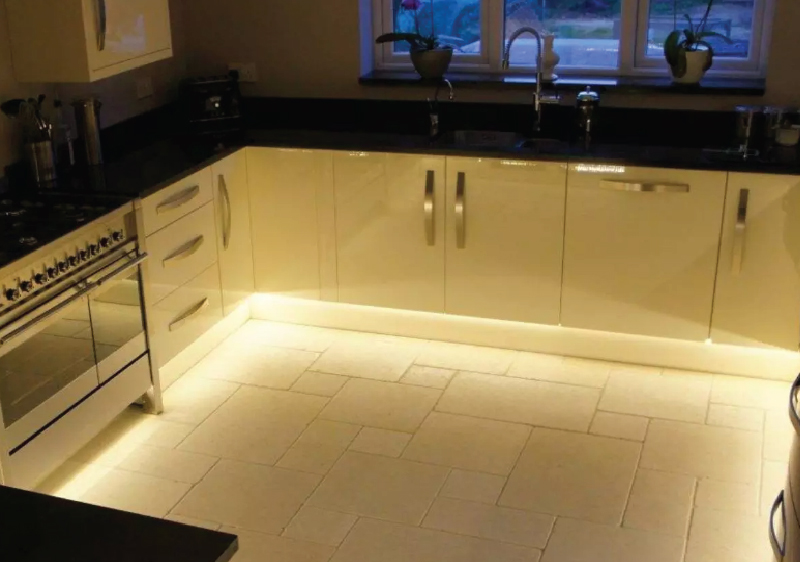 Plinth Lights using LED Tapes for Kitchen Cabinets
