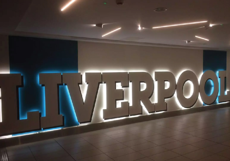 Liverpool sign decorated by LED Tapes