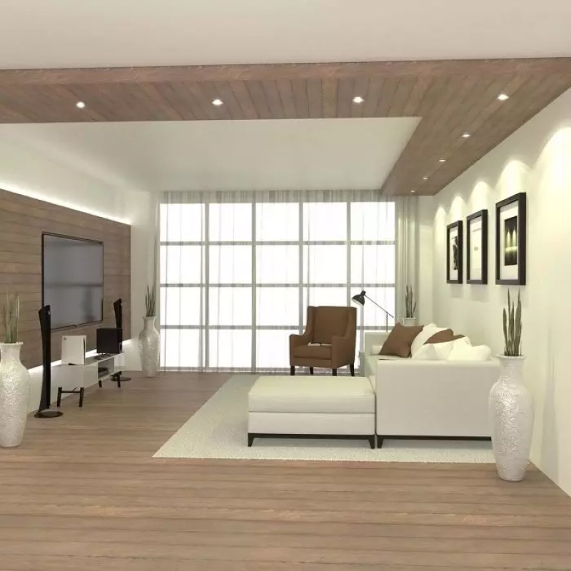 Living Room with GU10 Fire Rated Downlight