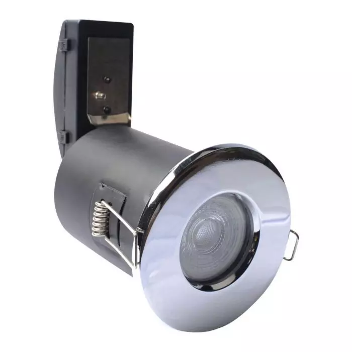 Simple Lighting IP65 Shower Fixed Fire Rated Downlight - Polished Chrom