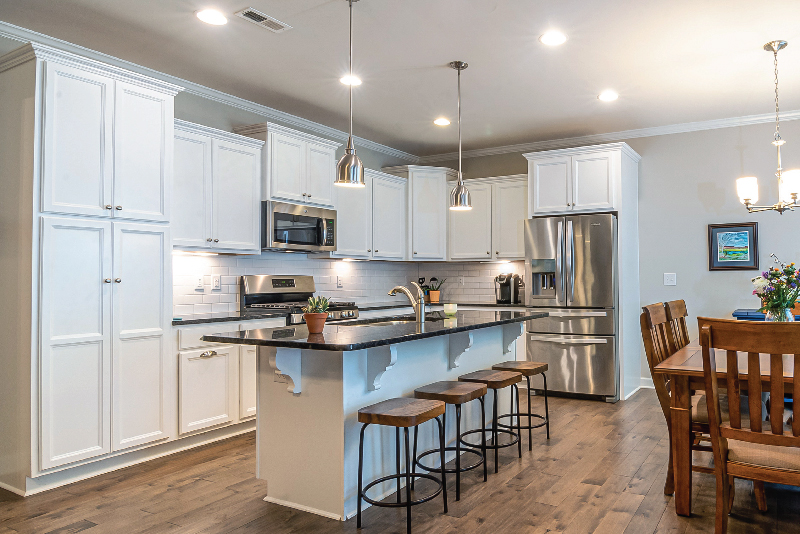 White Modern Kitchen with Fire Rated Downlights