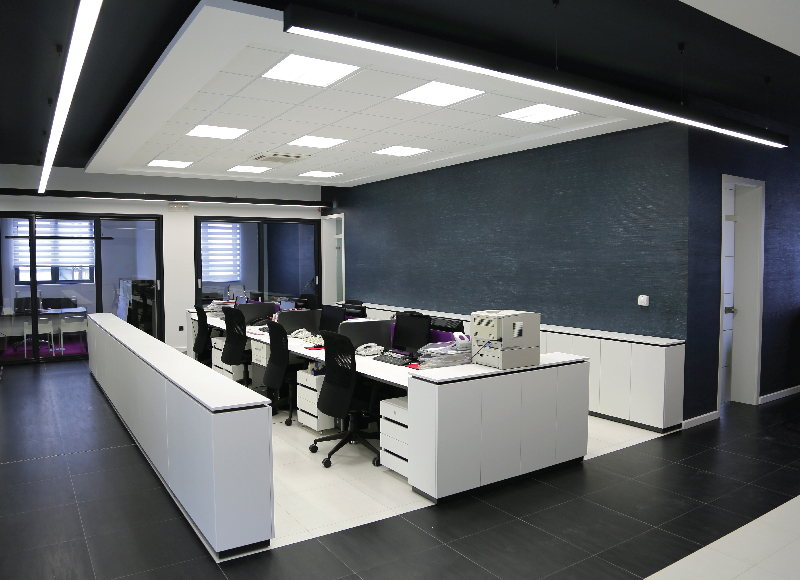 LED Panel Lights in an Office