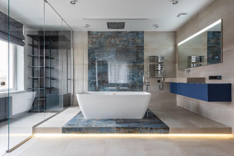 Beautiful Bath with LED Bathroom Mirror